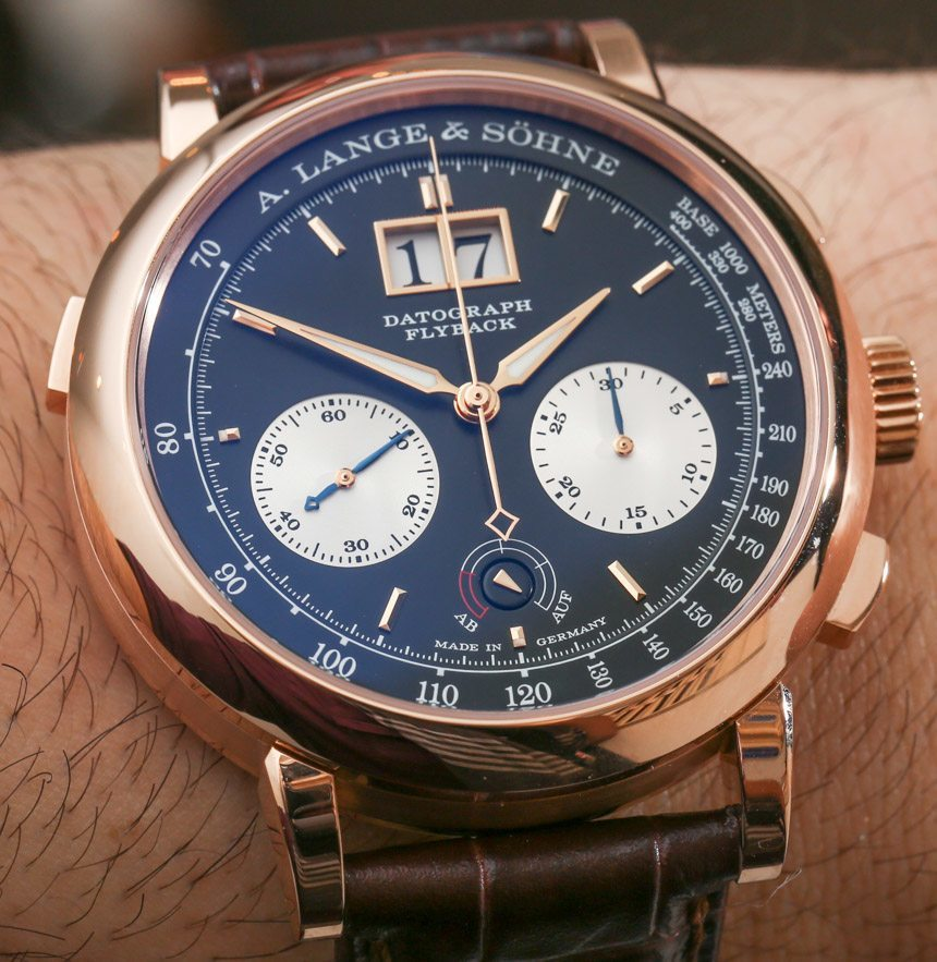 A. Lange Sohne Datograph Up/Down Pink Gold Watch Hands-On ...