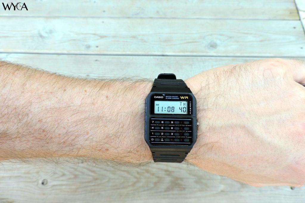 Casio Databank CA-53 Calculator Watch Wrist Shot
