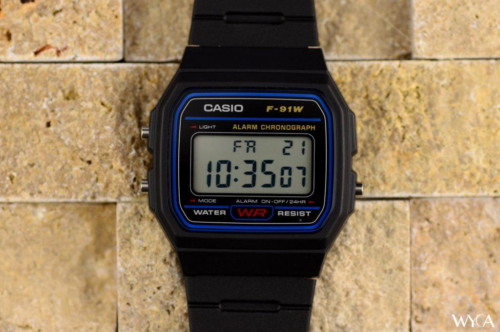 Casio F-91W Digital Watch Face