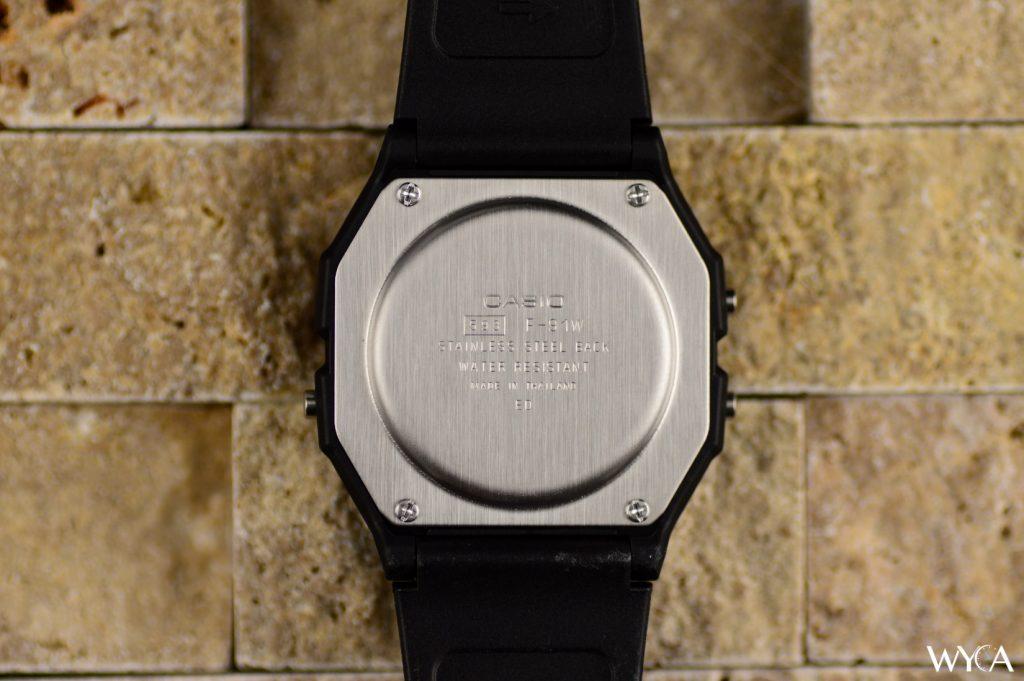 Casio F-91 Digital Watch Caseback