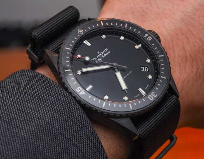 All Black Blancpain Fifty Fathoms Watch