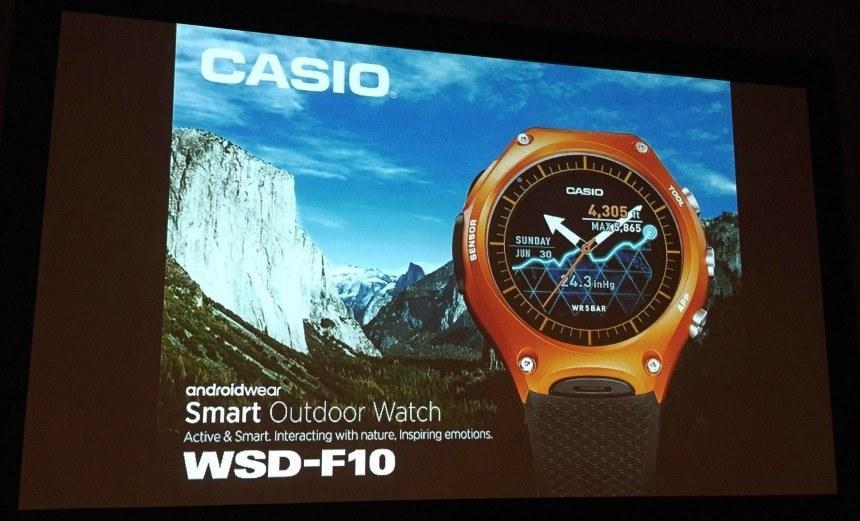 Casio Get Their New WSD-F10 Smartwatch