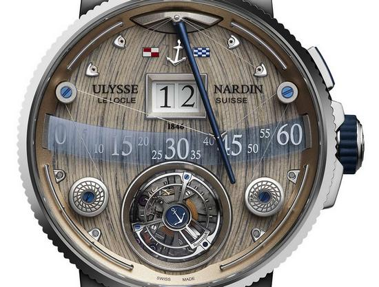 ulysse nardin grand deck marine tourbillon watch dial