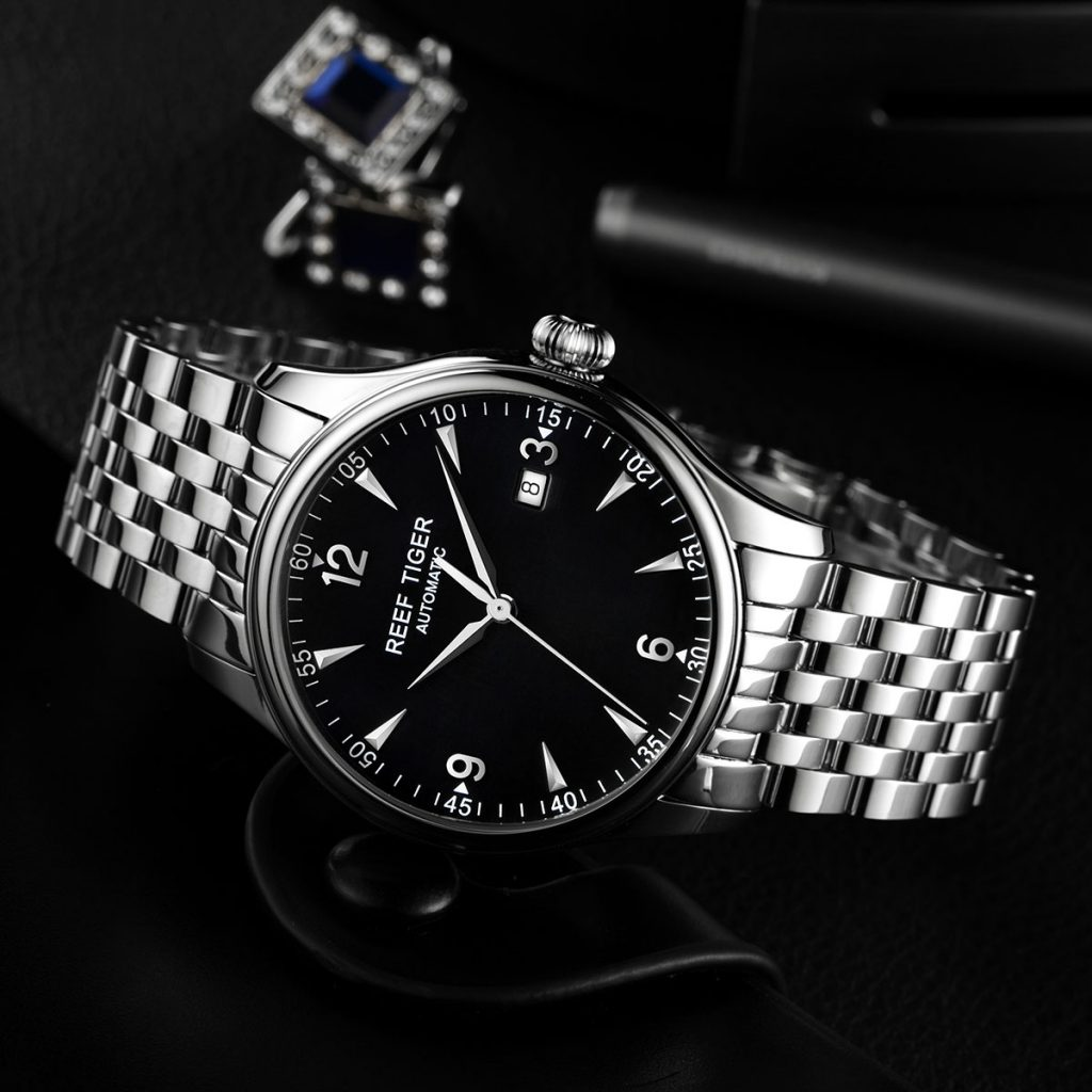 High Quality Classic Big Size Dial: Reef Tiger Classic Heritage Watch