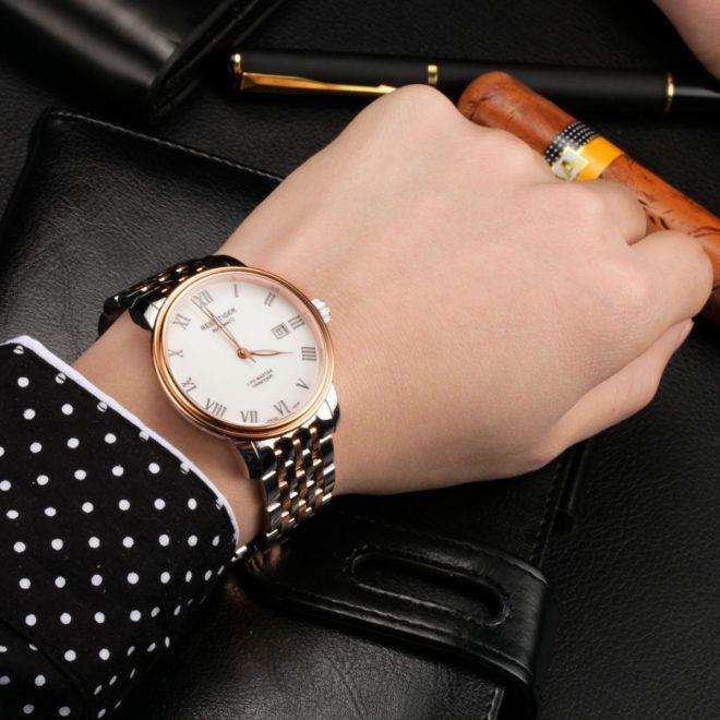Low-key & Elegant Business Men's Watch: Reef Tiger Classic Life-Master Men's Wrist Watch