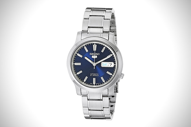 Seiko SNK793 Automatic Stainless Steel Watch Blue Dial