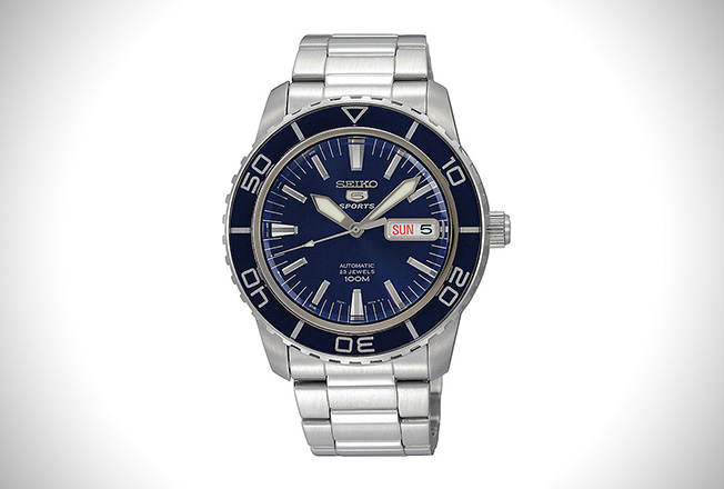 Seiko SNZH53 Automatic Dark Blue Dial Stainless Steel Watch