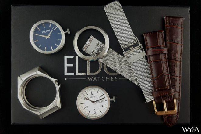 Eldon interchangeable watches - disassembled