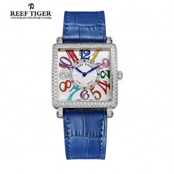Women's Delicacy And Fortitude: Reef Tiger Coco Rose Master Square Women's Wrist Watch
