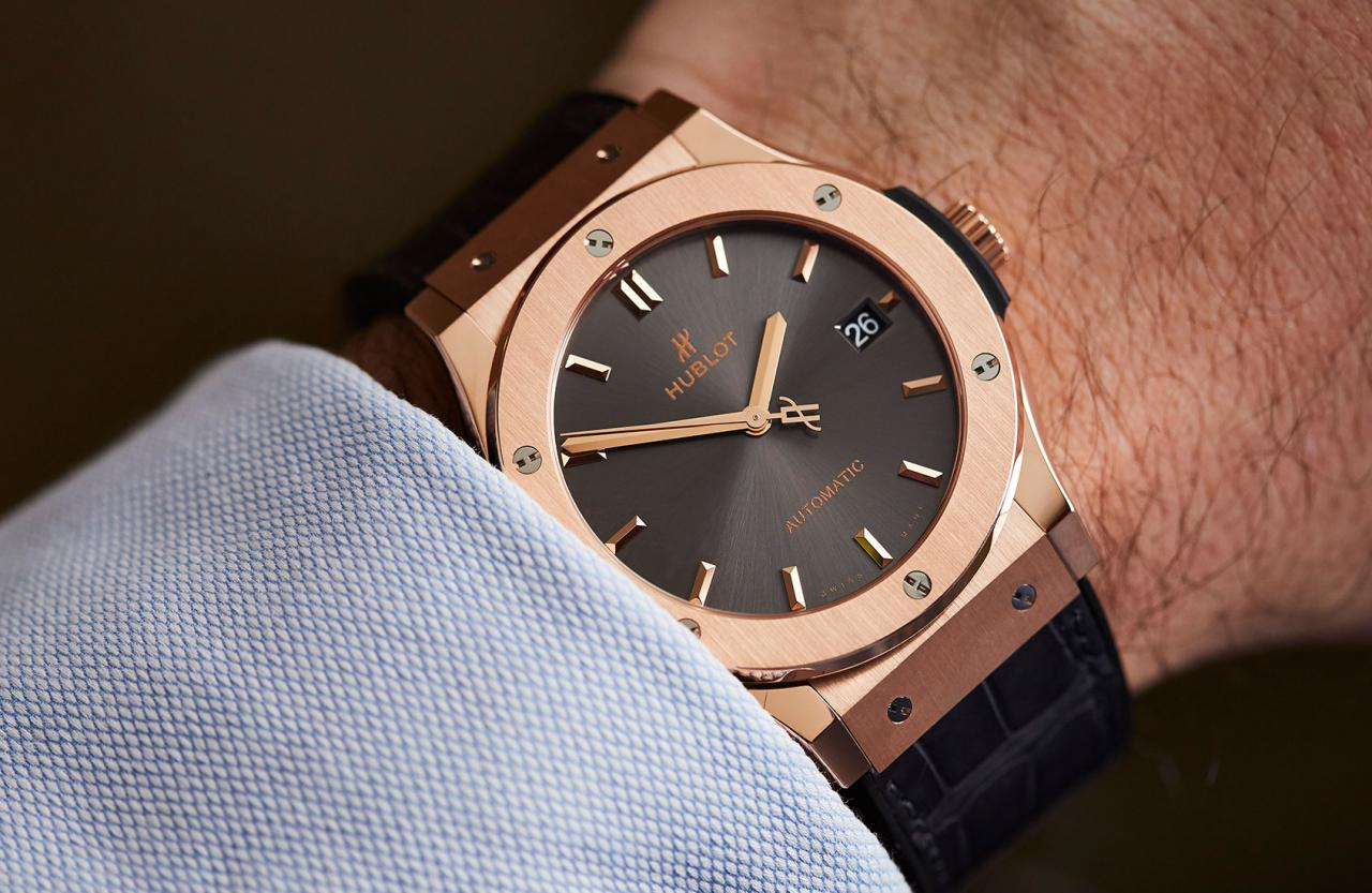 HANDS-ON: An exercise in harmony and contrast – the Hublot Classic Fusion Racing Grey in King Gold
