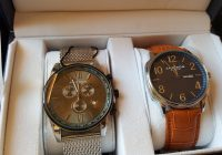 Akribos XXIV Men's Two Watch Gift Set (Great Value For Money)