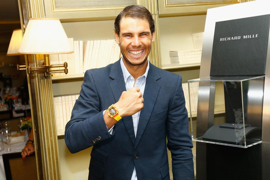 PARIS, FRANCE - MAY 24:  Rafael Nadal attends the Gala Dinner For the Launch Of The New Richard Mille RM at Pavillon Ledoyen on May 24, 2017 in Paris, France.  (Photo by Julien M. Hekimian/Getty Images for Richard Mille) *** Local Caption *** Rafael Nadal